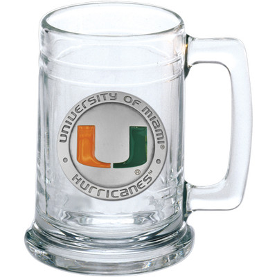 Miami Hurricanes Beer Mug Set of Two