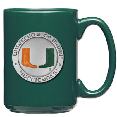 Miami Hurricanes Coffee Mug Set of 2
