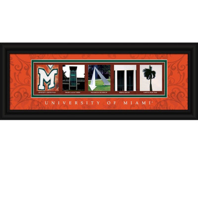 Miami Hurricanes Campus Letter Art Print