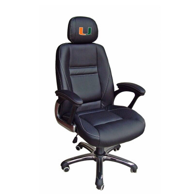Miami Hurricanes Leather Office Chair