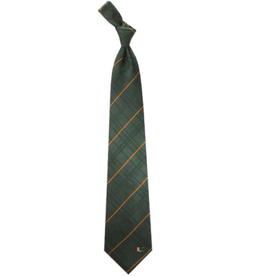 Miami Hurricanes Oxford Woven Silk Tie