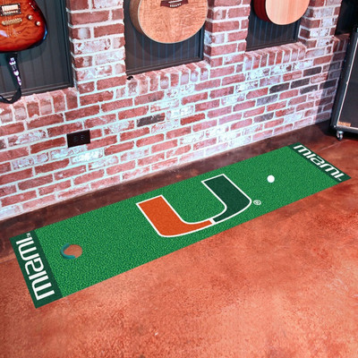 Miami Hurricanes Putting Green Mat
