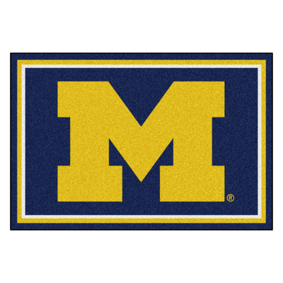 Michigan Wolverines Area Rug 5' x 8'