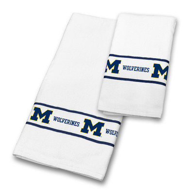 Michigan Wolverines Bath Towel Set