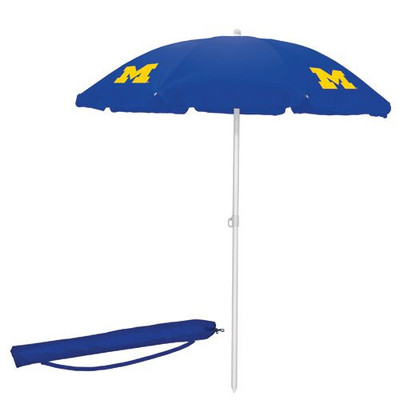 Michigan Wolverines Beach Umbrella