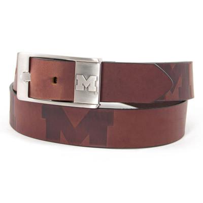 Michigan Wolverines Brandish Brown Belt