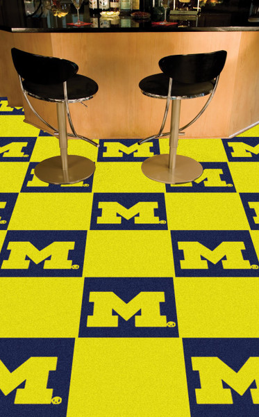 Michigan Wolverines Carpet Tiles