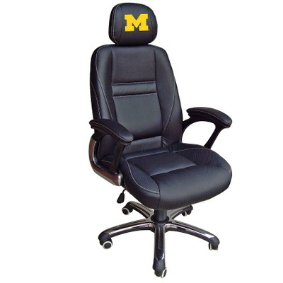 Michigan Wolverines Leather Office Chair