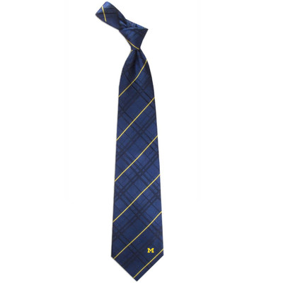 Michigan Wolverines Oxford Woven Silk Tie