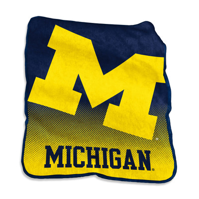 Michigan Wolverines Raschel Throw Blanket