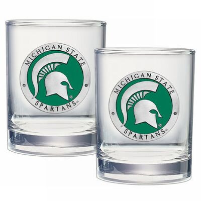 MSU Spartans Cocktail Glasses