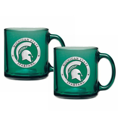 MSU Spartans Coffee Mug Set of 2