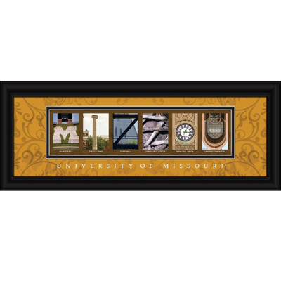 Missouri Tigers Campus Letter Art Print