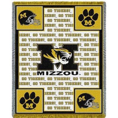Missouri Tigers Logo Stadium Blanket