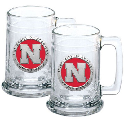 Nebraska Huskers Beer Mug Set of Two