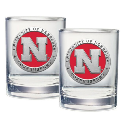 Nebraska Huskers Cocktail Glasses