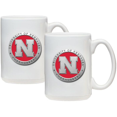 Nebraska Huskers Coffee Mug Set of 2