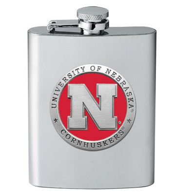 Nebraska Huskers Flask