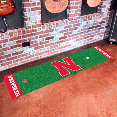 Nebraska Huskers Putting Green Mat