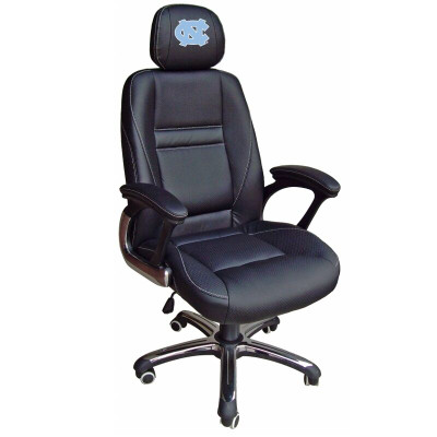 UNC Tar Heels Leather Office Chair