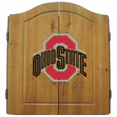 Ohio State Buckeyes Dart Board Cabinet