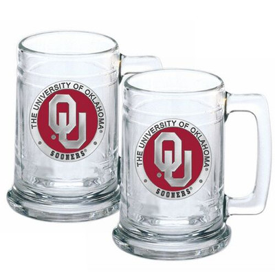 Oklahoma Sooners Beer Mug Set of Two