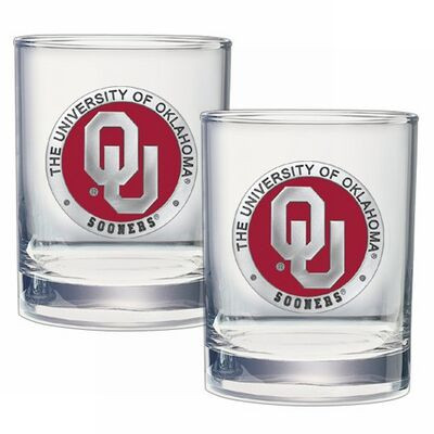 Oklahoma Sooners Cocktail Glasses
