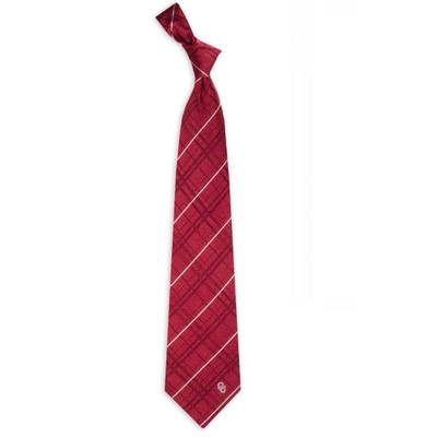 Oklahoma Sooners Oxford Woven Silk Tie