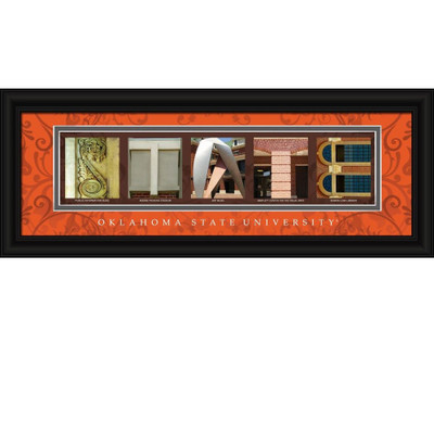 Oklahoma State Cowboys Campus Letter Art Print