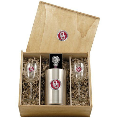 Oklahoma Sooners Wine Box Set