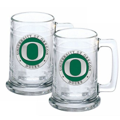 Oregon Ducks Beer Mug Set of Two