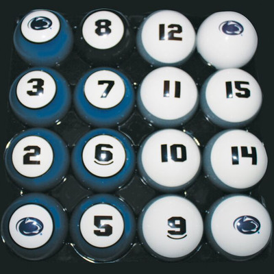 Penn State Nittany Lions Billiard Pool Ball Set