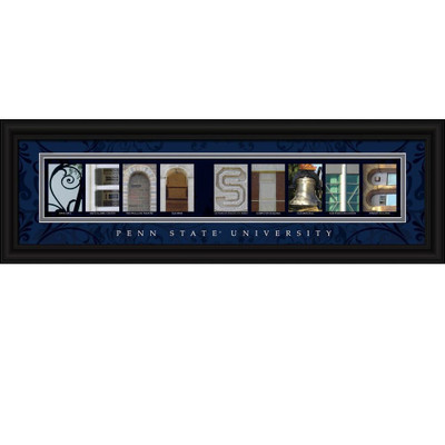 Penn State Nittany Lions Campus Letter Art Print