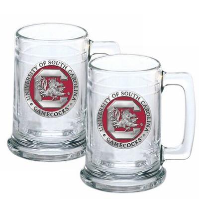 South Carolina Gamecocks Beer Mug Set of Two | Heritage Pewter | ST10165E