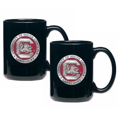 South Carolina Gamecocks Coffee Mug Set of 2 | Heritage Pewter | CM10165E