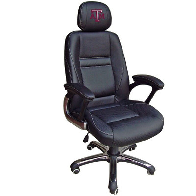 Texas A&M Aggies Leather Office Chair