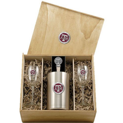 Texas A&M Aggies Wine Box Set