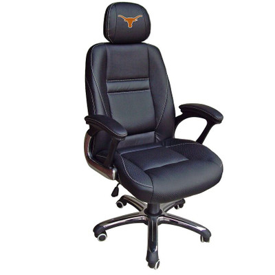 Texas Longhorns Leather Office Chair