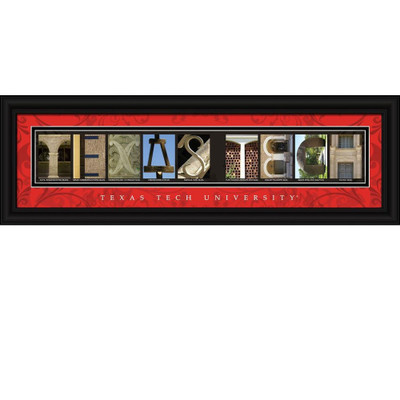 Texas Tech Red Raiders Campus Letter Art Print