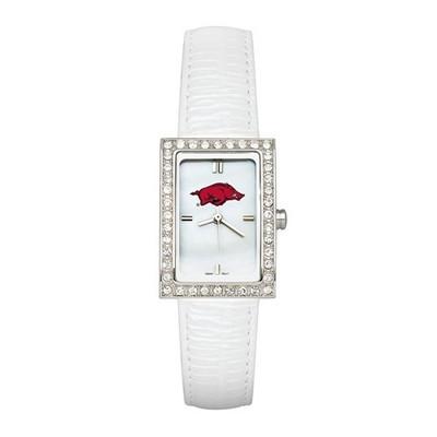 Arkansas Razorbacks Women's Allure White Leather Watch
