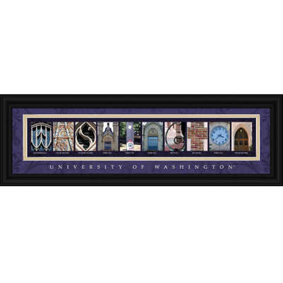 Washington Huskies Campus Letter Art Print