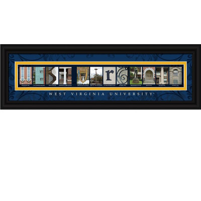 West Virginia Mountaineers Campus Letter Art Print