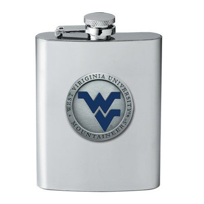 West Virginia Mountaineers Flask
