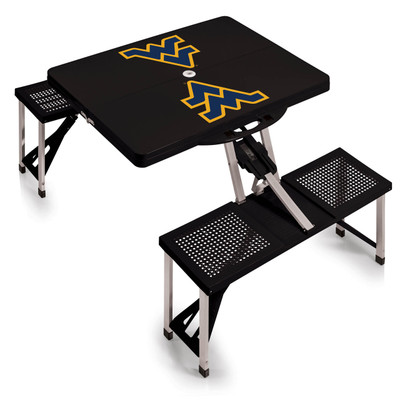 West Virginia Mountaineers Folding Picnic Table