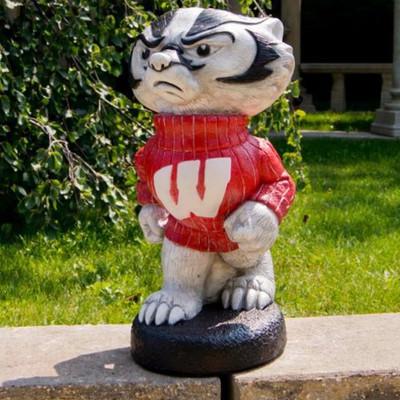 Wisconsin Badgers Mascot Garden Statue