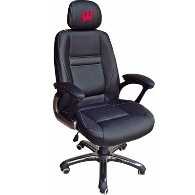 Wisconsin Badgers Leather Office Chair