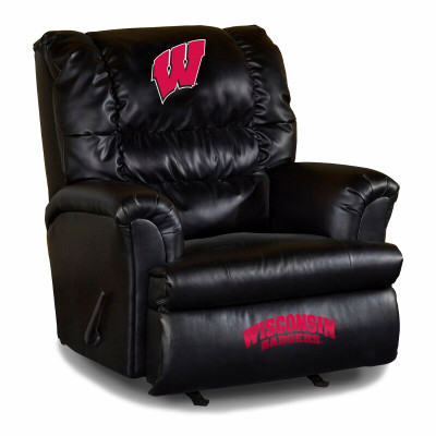 Wisconsin Badgers Leather Big Daddy Recliner