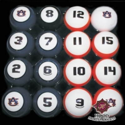 Auburn Tigers Billiard Pool Ball Set