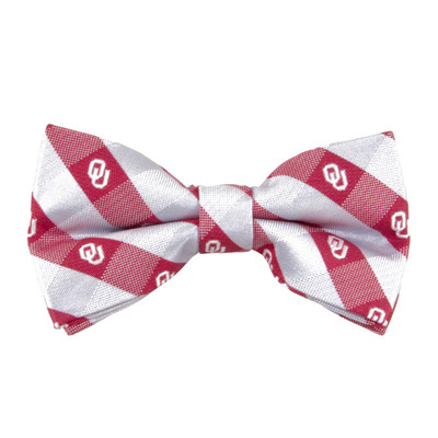 Oklahoma Sooners Check Bow Tie