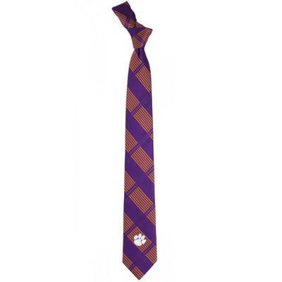 Clemson Tigers Plaid Skinny Tie